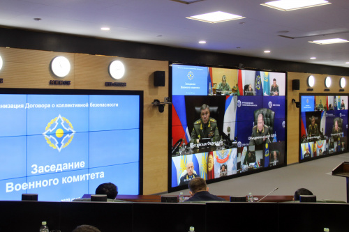 The Chiefs of General Staffs at a meeting of the CSTO Military Committee via videoconferencing discussed the challenges and threats to military security in the Caucasian, East European and Central Asian regions of the CSTO collective security