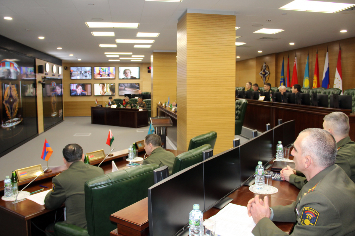 For the first time, a meeting was held at the Joint Staff of the Collective Security Treaty Organization with representatives of the defense authorities of the Organization's member states authorized to interact with the CSTO Crisis Response Center